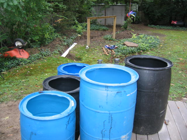 Rain Barrel & Vernal Pond/Rain Garden Photo