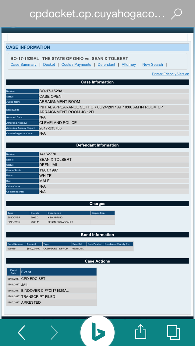 NABBED! Sean Tolbert: EDEN tenant held on $500,000 bond
