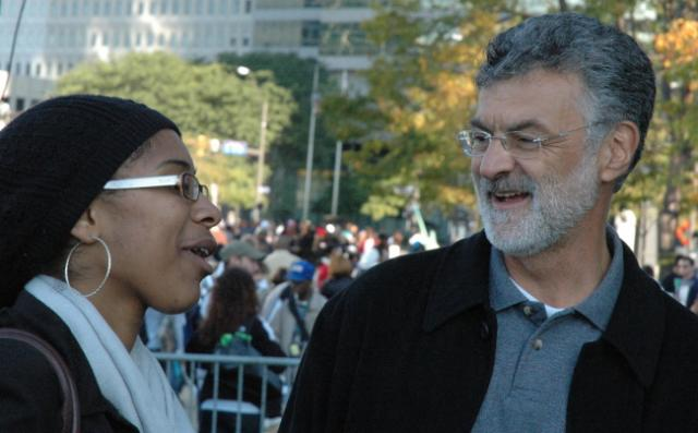 Cleveland Mayor Jackson at Russell Simmons Rally - behind the scenes