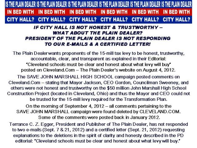 IS THE PLAIN DEALER IN BED WITH CITY HALL?