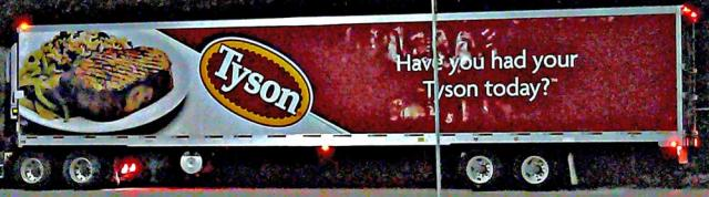 Tyson chicken truck - immigration policy for chicken processors?