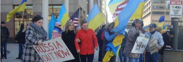 Ukraine supporters in Cleveland Ohio image by Mr. Puri