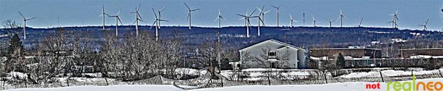 Cold breeze spins Chateaugay, NY wind turbines