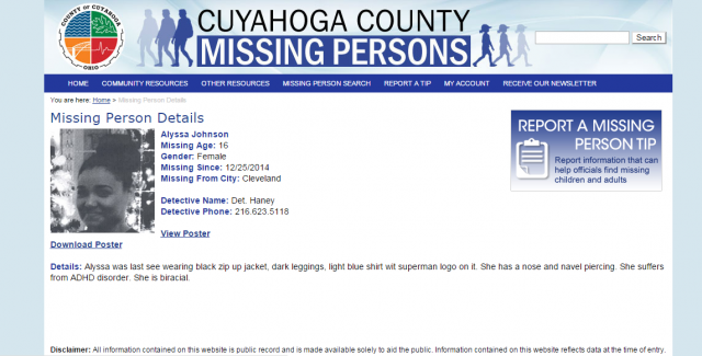 Alyssa Johnson MISSING