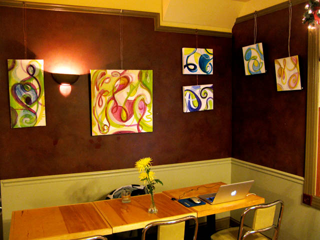Bridget Ginley's work in Lucky's Cafe