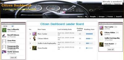 "Citizen Dashboard ""leaderboard"""