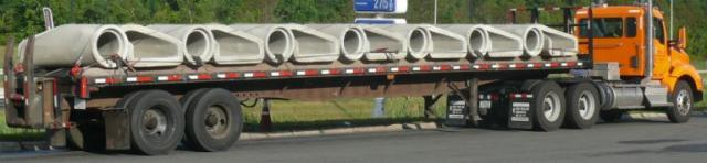 concrete culverts on tractor trailer geometry