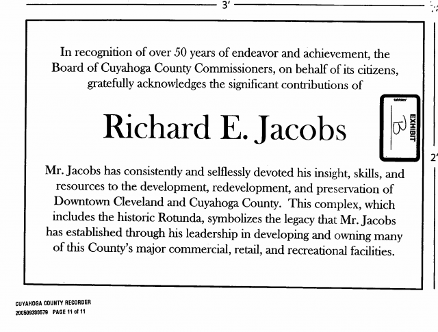 Jacobs plaque