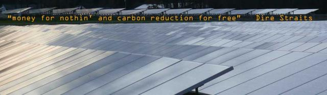 Money for Nothin' (almost) solar panels producing electricity