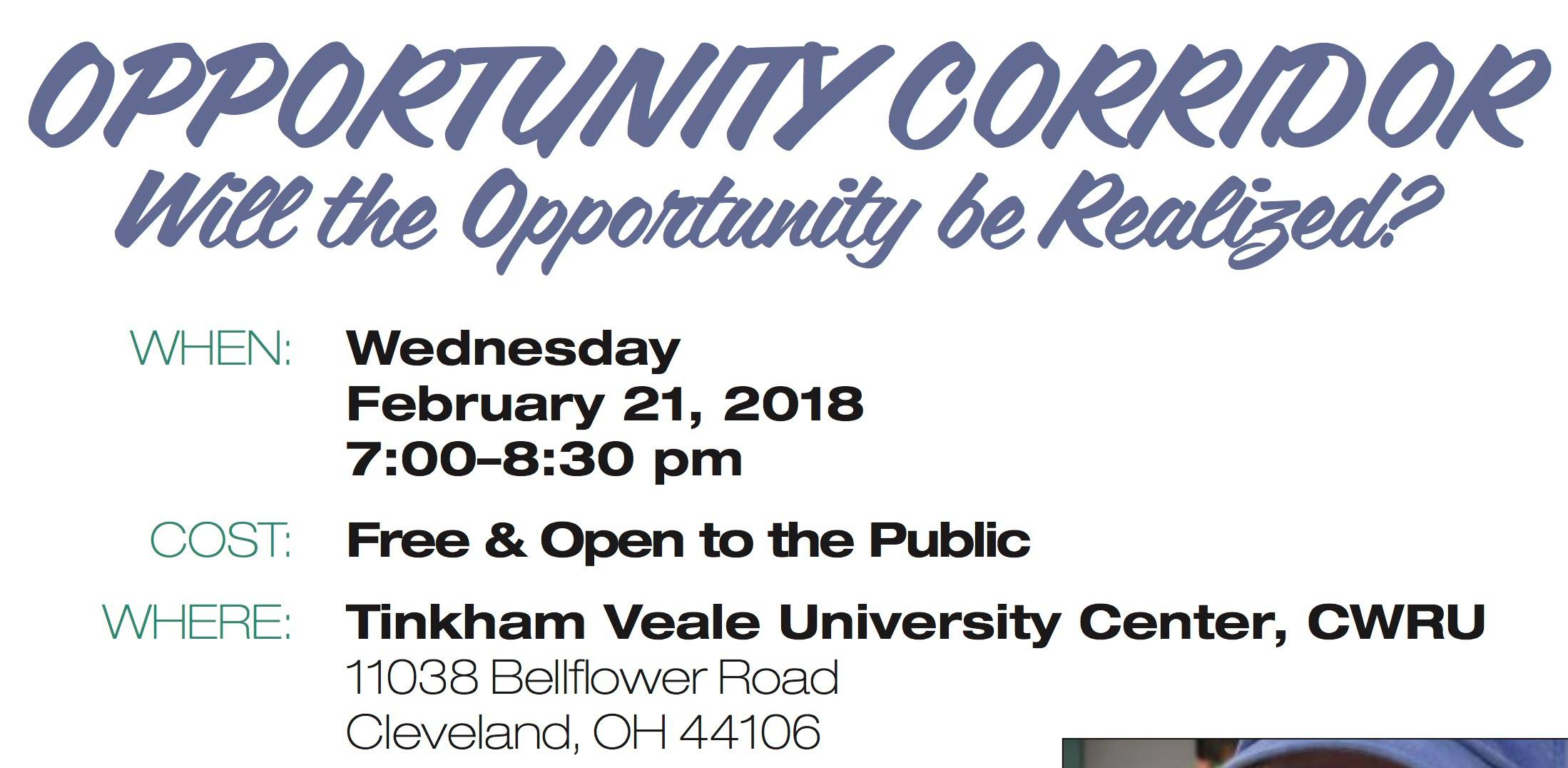 Opportunity Corridor Meeting at CWRU