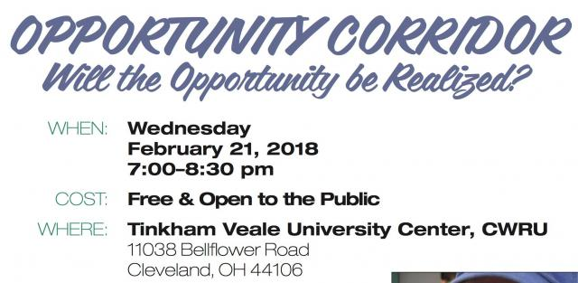 Opportunity Corridor Meeting at CWRU