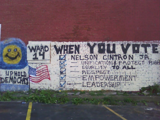 Ward 14: UPHOLD DEMOCRACY BY VOTING ON SEPTEMBER 08, 2009 FOR NELSON CINTRON JR