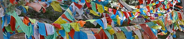 PRAYER FLAGS ON POTALA PALACE, TIBET