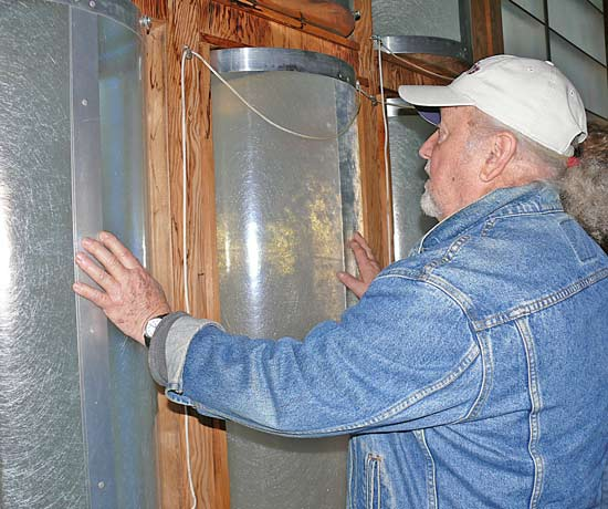 Leandre Poisson's rotary cylindrical insulated windows