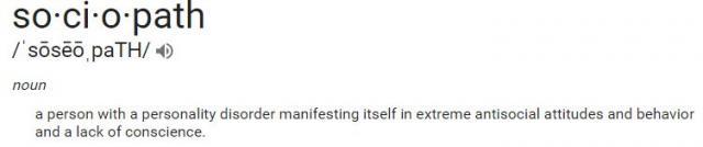 sociopath definition banner