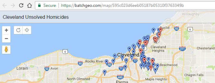 unsolved homicides cleveland area ohio