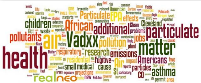Vadxx air pollution banner from Cleveland Citizens for Clean Air pdf