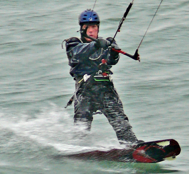 Toronto Beaches kite skier 11.16.10 just do it testicles image jeff buster