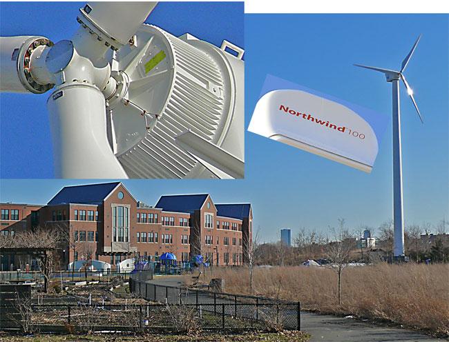 northwind wind turbine medford mcglynn massachusetts rigid hub