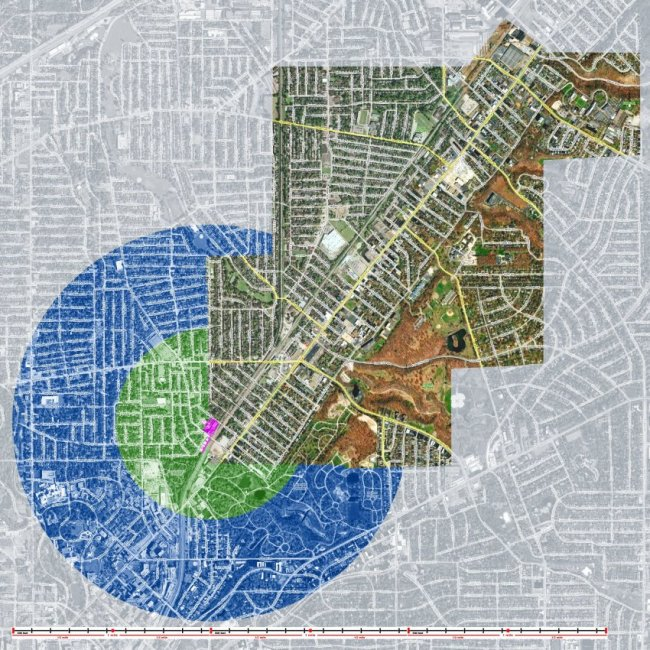 East Cleveland and Radius Map