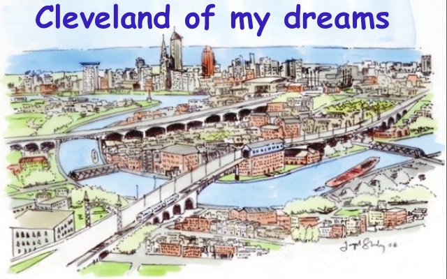 Joe Stanley Cleveland of My Dreams Postcard