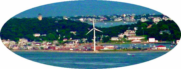 Hull, Ma.  High School wind turbine